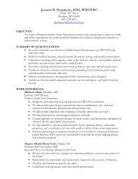 Sample Resume With Objectives Amazing Jeanette Hauptman WHNP Resume