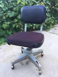 vintage metal office chair. Image Is Loading Vintage-Metal-Vinyl-Fabric-Eck-Adams-Tanker-Swivel- Vintage Metal Office Chair E