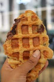 """Bitches Who Brunch on Twitter: """"Meet the croiffle! This delish pastry  combines our two favorite things things, a croissant and a waffle. Head to  the @Godiva Cafe in NYC and try a"""