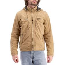 mens sherpa lined jacket with detachable hood