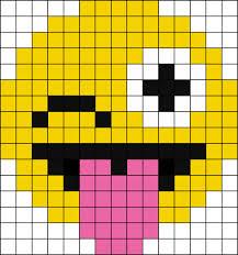 Emoji Perler Bead Patterns Inspiration Pixel Wink Emoji Perler Bead Pattern Bead Sprites Characters