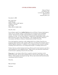 Cover Letter Sample For Accounting Internship Architect Intern