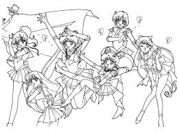 Small Picture Printable Sailor Moon Coloring Pages Coloring Me
