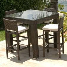 bistro set outdoor bar height awesome furniture square table and white seated chairs outdoor bar height