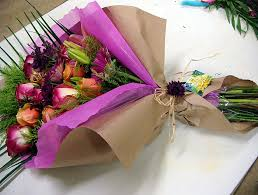How To Wrap Flower Bouquet In Paper How To Wrap A Flower Bouquet With Tissue Paper Magdalene