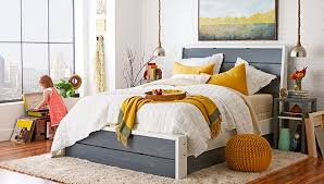 Platform Bed With Roll Out Storage.