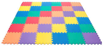 com wonder mat non toxic recycled extra thick rainbow
