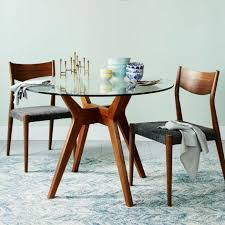 elegant round glass dining table top 29 furniture crossing three brown wooden base with transpa attractive ideas of bases for shows mesmerizing design
