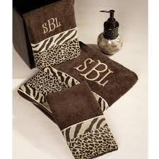 Cheetah Print Decor Zebra Print Bath Towels