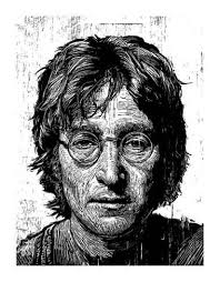Lennon' Giclee Print - Neil Shigley   Art.com in 2020   Linocut art,  Stretch canvas, Stretched canvas prints
