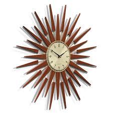 buy newgate clocks the pluto starburst wall clock  large  amara