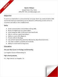 Sample Bartender Resume Magnificent Bartender Resume With No Experience Resume Examples Pinterest