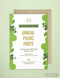 Picnic Template Free Office Picnic Invitation Template Download 518 Invitations In