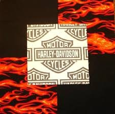 30 6 Harley Davidson Logo Red Flames Black Quilt Fabric Squares | eBay & Picture 1 of 1 Adamdwight.com