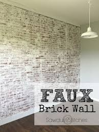 Image Tiles Sawdust2stitches How To Create Realistic Faux Brick Wall Out Of Paneling Pinterest How To Faux Brick Wall Home Ideas Faux Brick Walls Fake Brick