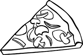 Small Picture Pepperoni Pizza Slice Coloring Page Wecoloringpage