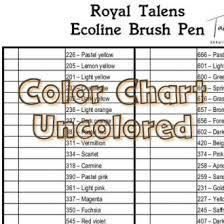 Royal Talens Ecoline Brush Pen Color Chart 59 Colors