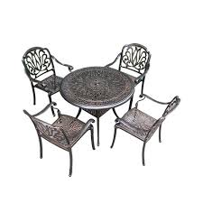 outdoor cast aluminum table and chairs
