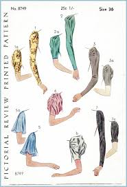 Sleeves Pattern Gorgeous 48s Set Of Sleeves Vintage Sewing Pattern Reproduction 48 Lady