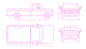 Pickup Trucks Dimensions & Drawings | Dimensions.Guide