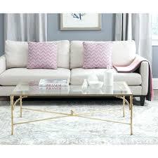 safavieh malone chrome high gloss coffee table gold multi