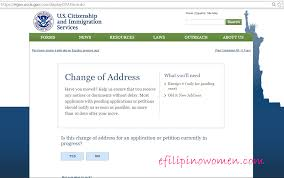 Uscis Homeland Security Change Of Mailing Address Filipino Women