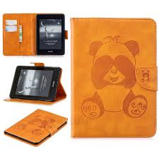 imprint panda magnetic leather case for kindle paperwhite 4 2018 brown