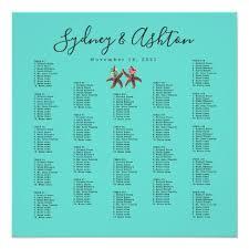 Starfish Chart Starfish Brides Large Seating Chart Poster