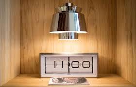 brick vintage flip clock white on the table