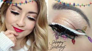 Lights For Makeup Tutorials Christmas Lights Eyeliner Makeup Tutorial Vlogmas