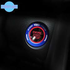 Engine Start Stop Push <b>Button Knob Key Switch</b> Ring Trim For ...