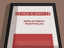 how to develop a professional portfolio steps pictures