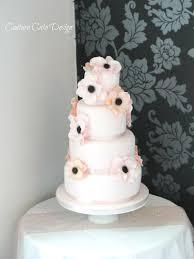 4 Tier Wedding Cake Designs 4 Tier Anemone Wedding Cake 4 Tier Anemone Design Bride L