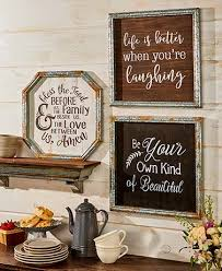 more options galvanized metal framed country wall art