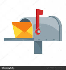 Illustrated Icon Mailbox Open Condition Flag Stock Vector