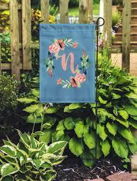 monogram garden flag personalized