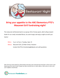 Benefit Flyer Wording Fundraising Pto Today
