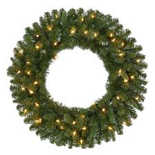 pre lit battery operated led sierra nevada artificial wreath with warm white lights