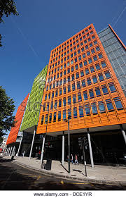 google office in uk. central saint giles office building home to google uk london england uk - stock image in s