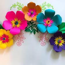 Paper Flower Designs Pdf Paper Flower Template Digital Version Original Design By