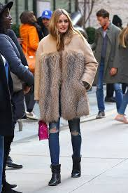 olivia palermo wearing a fur coat 09