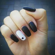 Black And White Nail Designs Acrylic Nails Coffin Black And White White Acrylic Nails White Nails