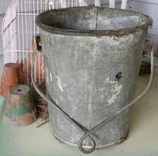 Rustic Antique Galvanized Well Bucket