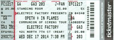 The Electric Factory Seating Chart Concerts By Venue