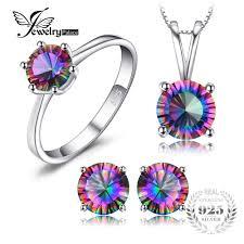 mystic topaz pendant ring earring 925 sterling silver for women prev