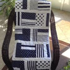 """Baby Quilt - Navy Blue Dots & Stripes - from Magnoliaquilts & Baby Quilt - Navy Blue Dots & Stripes - 37"""" x 52"""" - Navy Adamdwight.com"""