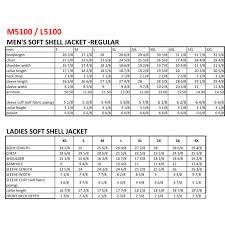 Soft Shell Jacket Size Chart Mens Soft Shell Jacket