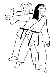 Judo Gevecht Tussen Vrouwen Kleurplaat Gratis Kleurplaten Printen