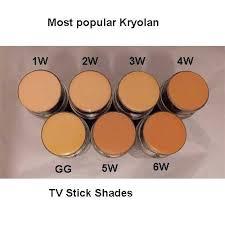 por kryolan tv foundation shades