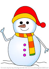 From santa to snowmen, cozy fireside scenes and beautifully decorated christmas trees, to christian nativity scenes, there are a huge range of coloring sheets for your child to color in, plus some more detailed drawings for adults and bigger kids too! Learn How To Draw Snowman With Scarf Christmas Step By Step Drawing Tutorials